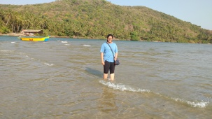 The Tsunami Islan! Standing in the middle of nowhere