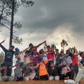 Camp1: On the highest point of Uroli; Trig point
