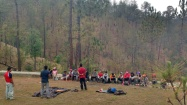 Camp1: Tent pitching lesson